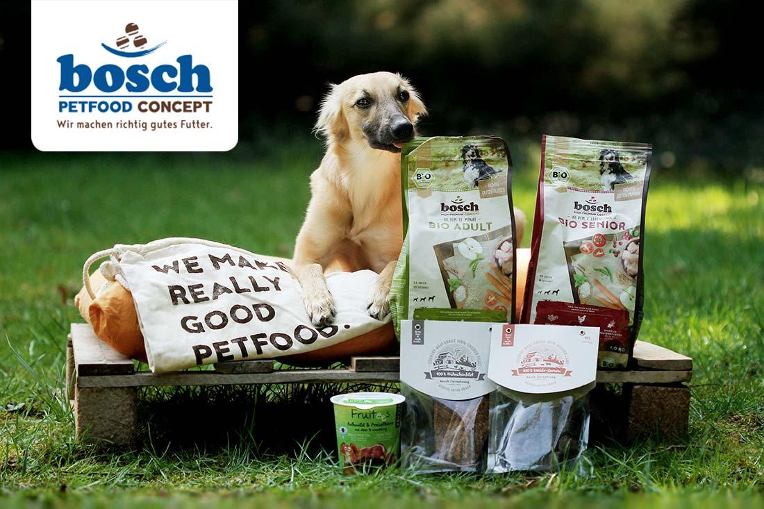 Lieblingsfutter: bosch HPC BIO | Adult Hühnchen & Apfel | Hundefutter für ausgewachsene Hunde aller Rassen